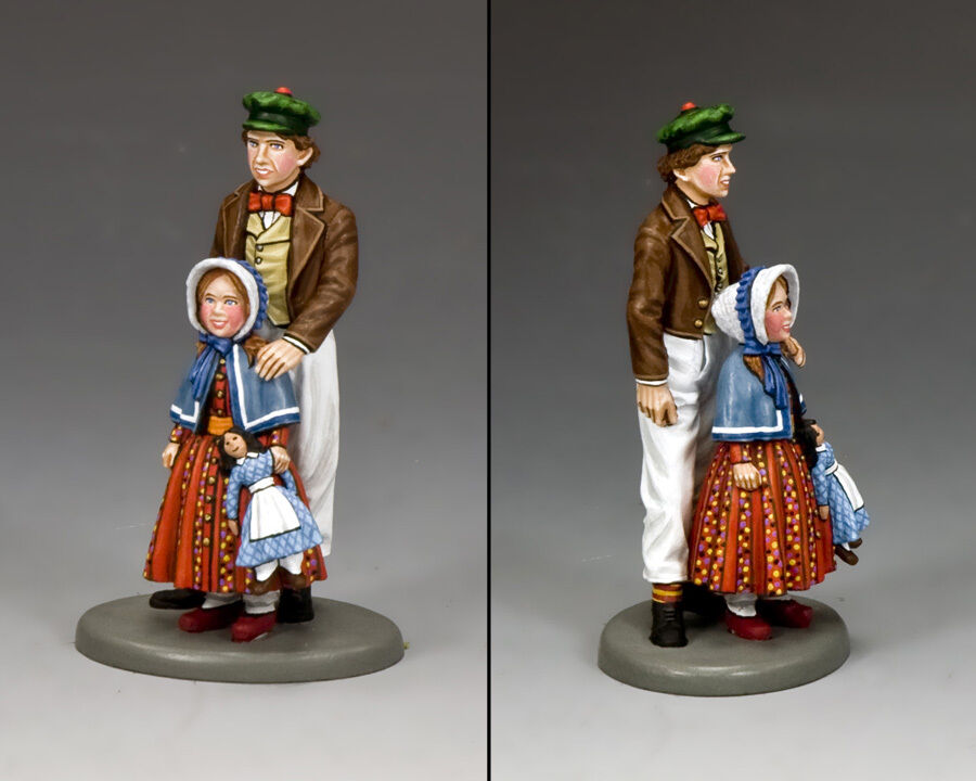 KING AND COUNTRY World Of Dickens - Jack & & Sarah WoD011 WoD11 Painted Metal