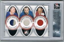 2005-06 ITG ULTIMATE TRIPLE THREAD JERSEY JOHNNY BOWER GLENN HALL JACQUES PLANTE