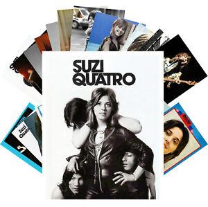Postcards-Pack-24-cards-Suzi-Quattro-Rock-Music-Posters-Vintage-CC1224