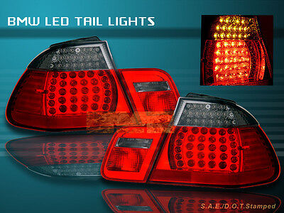 00 01 02 03 BMW E46 330 328 325 TAIL LIGHTS LED R/S COUPE