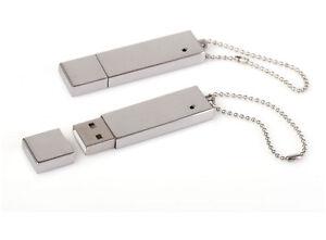 PENDRIVE-USB-8-GB-in-Metallo-Lucido-PERSONALIZZATO-con-INCISIONE
