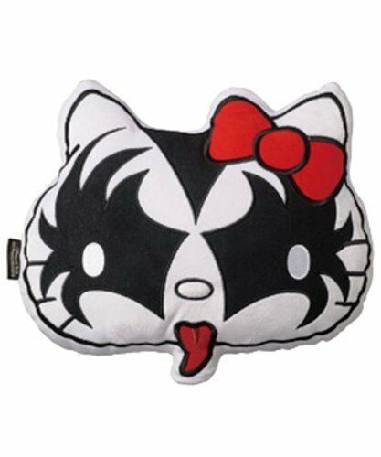 "KISS x HELLO KITTY Series Face Plush Cushion /""The Demon/"" New Japan Medicom Item"