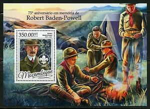 MOZAMBIQUE 2016 75th MEMORIAL ANN OF ROBERT BADEN-POWELL SCOUTS S/SHEET MINT NH