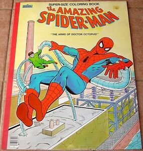 AMAZING SPIDERMAN SUPER SIZED GIANT STORY COLORING BOOK VFNM 1983 ...