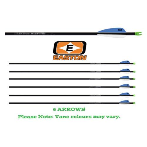 6 x Easton Archery Carbon Inspire Arrows Suitable for Recurve and Compound Bows