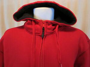 9832a7b24 Champs Sports Hoodi Sport Jacket L Red side vents zipper up to chin ...
