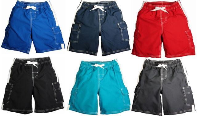 ec9308529e Norty Toddler Boys Cargo Watershort Swim Suit Boardshort Swim Trunks Red 4t  for sale online   eBay