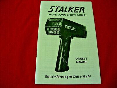 STALKER PRO SPORTS RADAR GUN OWNERS MANUAL