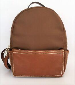 shoulder New Luggage Brown Nylon 1872860038016 StudsBackpack Bag Isabelle gold srCtdhQx