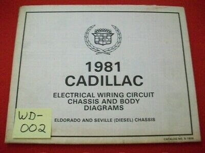 "1981 GM CADILLAC ELDORADO & SEVILLE ""(DIESEL) CHASSIS ..."