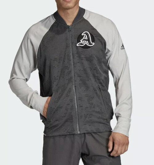 Contador Factibilidad Destierro  adidas Vrct PrimeBlue Dark Grey Full Zip up Tennis Jacket Mens Medium  FP8121 for sale online | eBay