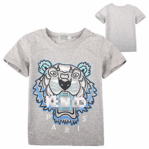 2-13Y NEW Kids/' Boys Girls Summer cotton Short-sleeved T-shirt 4 Color