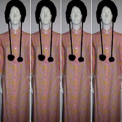 2019 Nuovo Stile Vintage Anni 1960 Rosa Paisley Cotone Vestaglia/accappatoio. Taglia 10/12.-. Size 10/12. It-it