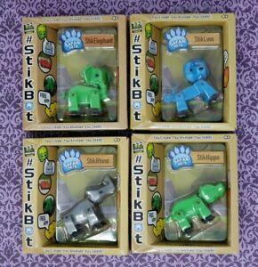 Lot-Of-4-Zing-StikBot-Safari-Pets-StikLion-StikHippo-StikElephant-StikRhino-3