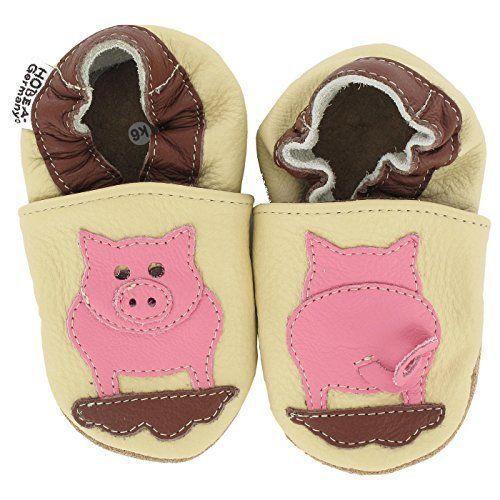 Zapatos de Cuero Suave Bebé Botines hobea Piggy Zapatillas 12-18 meses 20//21