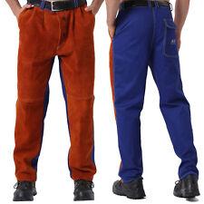 Ap 6062 Men Hybrid Welding Pantschaps With Cowhide Leather Front Ampfr Cotton Back