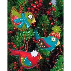 image is loading 2 packs felt applique christmas ornaments kits by - Christmas Decoration Kits