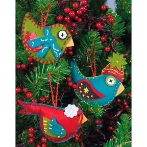 image is loading 2 packs felt applique christmas ornaments kits by - Christmas Decoration Kits