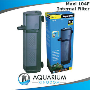 Aqua one maxi 104f internal power filter 1480l h 180l for How to clean fish tank filter