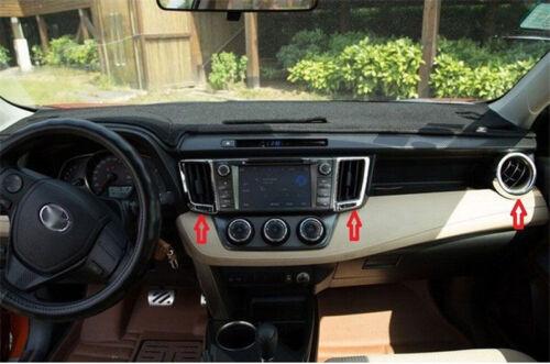Chrome Dashboard Air Condition Vent Cover Trim 4pcs For Toyota Rav4 2013-2017