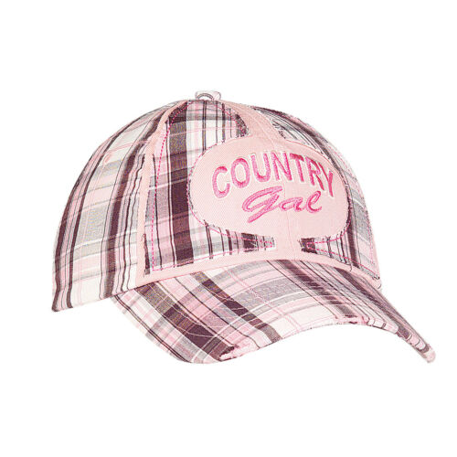 Blazin Roxx Hat Youth Girl Baseball Cap Plaid Country Gal Pink 1589230