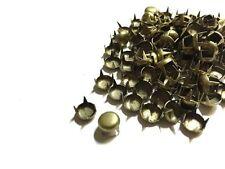 CraftbuddyUS 100pc 5mm Brass Round Stud DIY Fashion Goth Biker Bag Leather