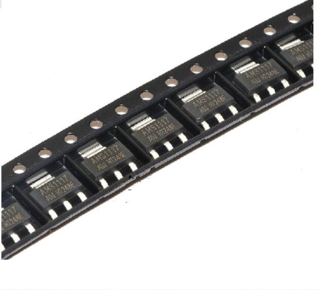 100Pcs AMS1117-ADJ AMS1117 LM1117 1A SOT-223 Voltage Regulator
