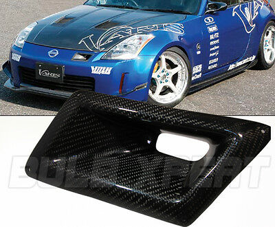 LEFT CARBON FIBER FRONT BUMPER INTAKE AIR VENT DUCT FOR NISSAN 350Z Z33 2003-09