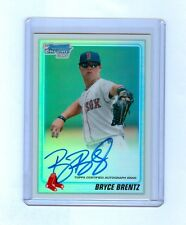 Bryce Brentz 2010 Bowman Chrome Draft Refractor Auto RC #12/500 RED SOX