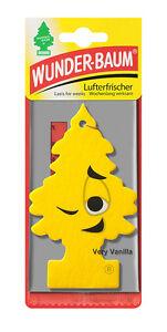 3 x Original WUNDERBAUM® Very Vanilla Lufterfrischer Duftbäumchen air freshener