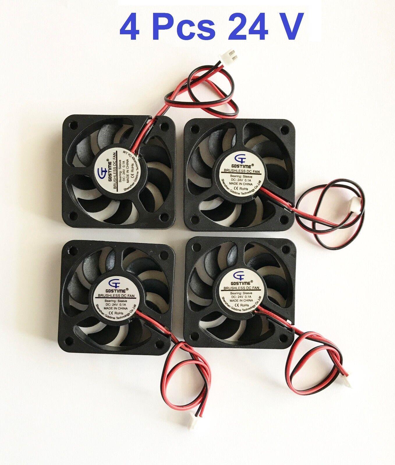4 QT 24V 50mm Cooling Computer Fan 5010 50x50x10mm DC 3D Printer 2-Pin