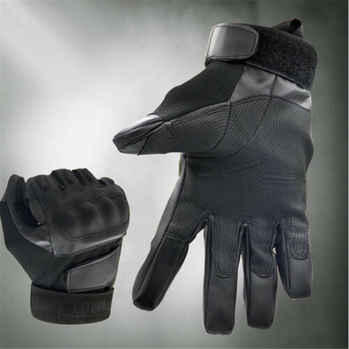 Mens Non-skid Motorcycle Gloves Full Finger Touchscreen Leather Glove For Sports