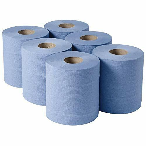 2-Ply Task CF105-B Centre Feed Roll 105 m pack de 6 bleu