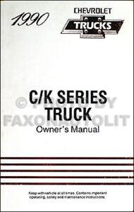 1990 chevrolet ck pickup truck owners manual 90 chevy silverado rh ebay com 1990 chevy 1500 repair manual 1990 chevy 1500 manual transmission