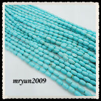 Free TOP 50pcs Jewelry Making Turquoise Oval Loose Beads Strand Gemstone 8MM