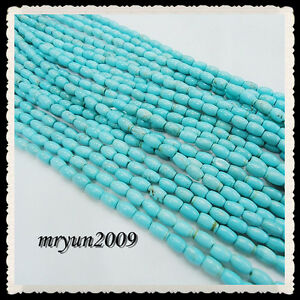 Free-TOP-50pcs-Jewelry-Making-Turquoise-Oval-Loose-Beads-Strand-Gemstone-8MM