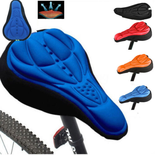 Mountain Bike Road Bicycle 3D Silicone Gel Saddle Seat Cover