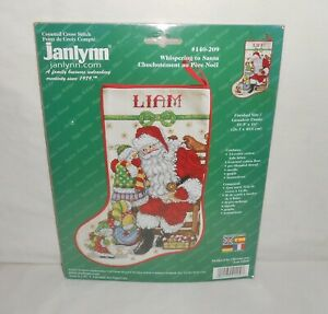 NOS-2001-Janlynn-Counted-Cross-Stitch-Kit-Whispering-to-Santa-140-209