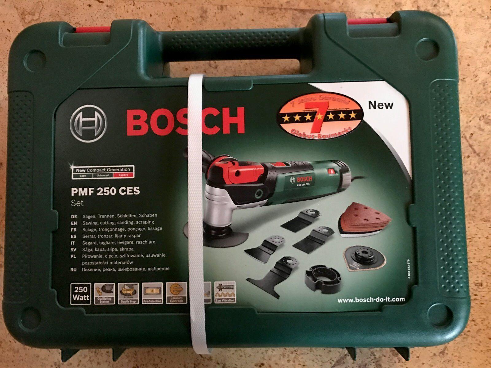 NEU & OVP: Bosch Multifunktionswerkzeug PMF 250 CES mit viel Zubehör im Koffer