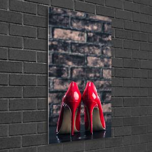 Heels Aus Hart High Bild Hochformat Rote Glas 50x100 Wand Zu Details Kunstdruck JK1TlFc
