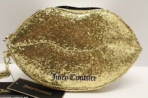 Juicy-Couture-Gold-Glitter-Lips-Phone-Charging-Cosmetic-Case-Wristlet-Bag-NWT-60