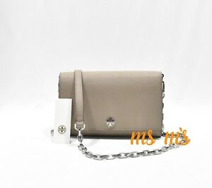 87617a5d639b Image is loading Tory-Burch-Robinson-Leather-Chain-Wallet-Shoulder-Crossbody -