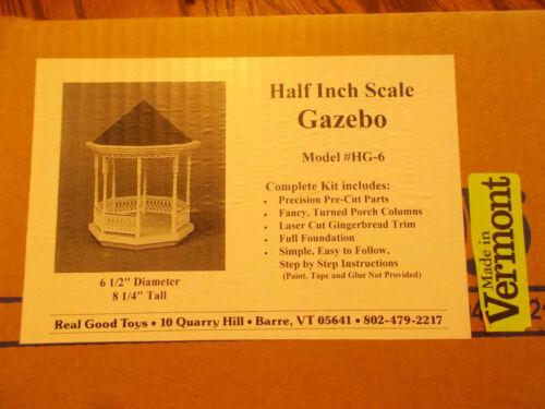 Dollhouse 1:24 Half Scale Gazebo Kit Real Good Toys NLIP Shop Estate