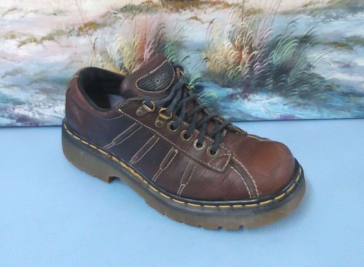 Dr Doc Martens 9764 Brown Leather 6 Eye Casual Oxfords shoes Men's 8 US UK 7