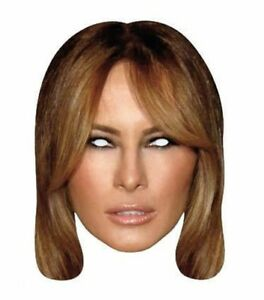 Melania-Trump-Single-2D-Card-Party-Face-Mask-first-lady-donald-usa-president