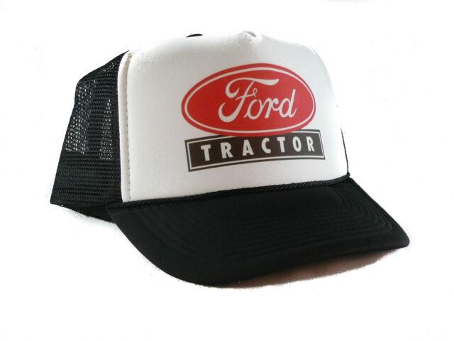e293afe821d29 Vintage Ford Tractors Trucker Hat Mesh Hat Snapback Hat Black for ...