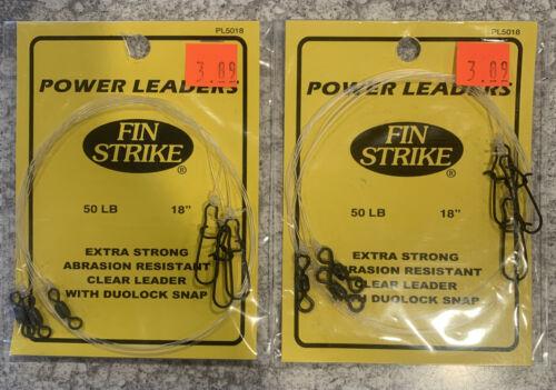 "2 Packs Fin Strike Power Leaders 50LB 18"" 3 Per Pack"