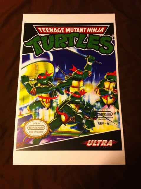 Teenage Mutant Ninja Turtles 11x17 Box Art Poster - Nintendo NES No Game -