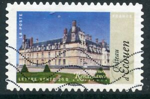 TIMBRE-FRANCE-AUTOADHESIF-OBLITERE-N-1115-ARCHITECTURE-ECOUEN