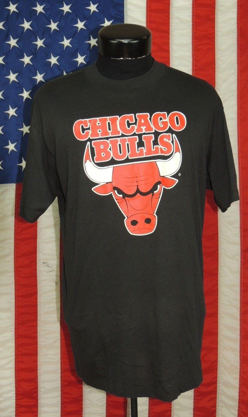 5d63eec6cfae3f Rare VTG Made USA Trench Buffalo NY Chicago Bulls XL NBA Basketball T Tee  Shirt